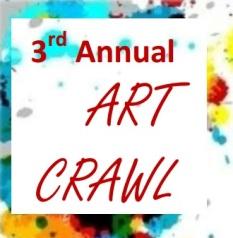 3rd annual Art Crawl logo