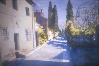 Evening Shadows in Arceti